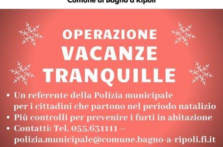 """Natale fuori casa? Comunicalo alla Polizia Municipale. E' il progetto """"Vacanze tranquille""""!"""