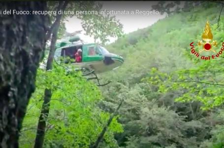VIDEO / Si infortuna in Secchieta, recuperata dai Vigili del Fuoco