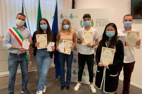 Bagno a Ripoli, cerimonia per la cittadinanza italiana a 5 neo-diciottenni con genitori stranieri
