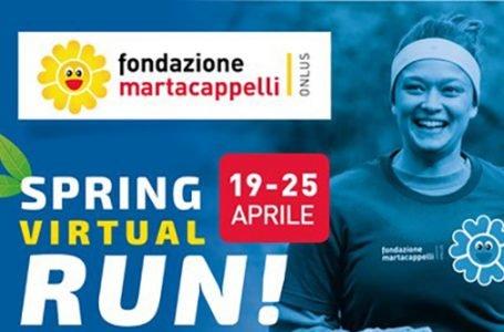 """Una corsa per sé…e per gli altri: la """"Spring Virtual Run"""" lanciata dalla Fondazione martacappelli. Come partecipare!"""